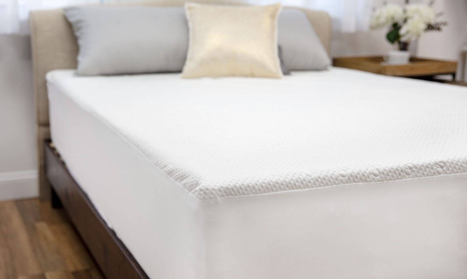Mattress Protector on a bed